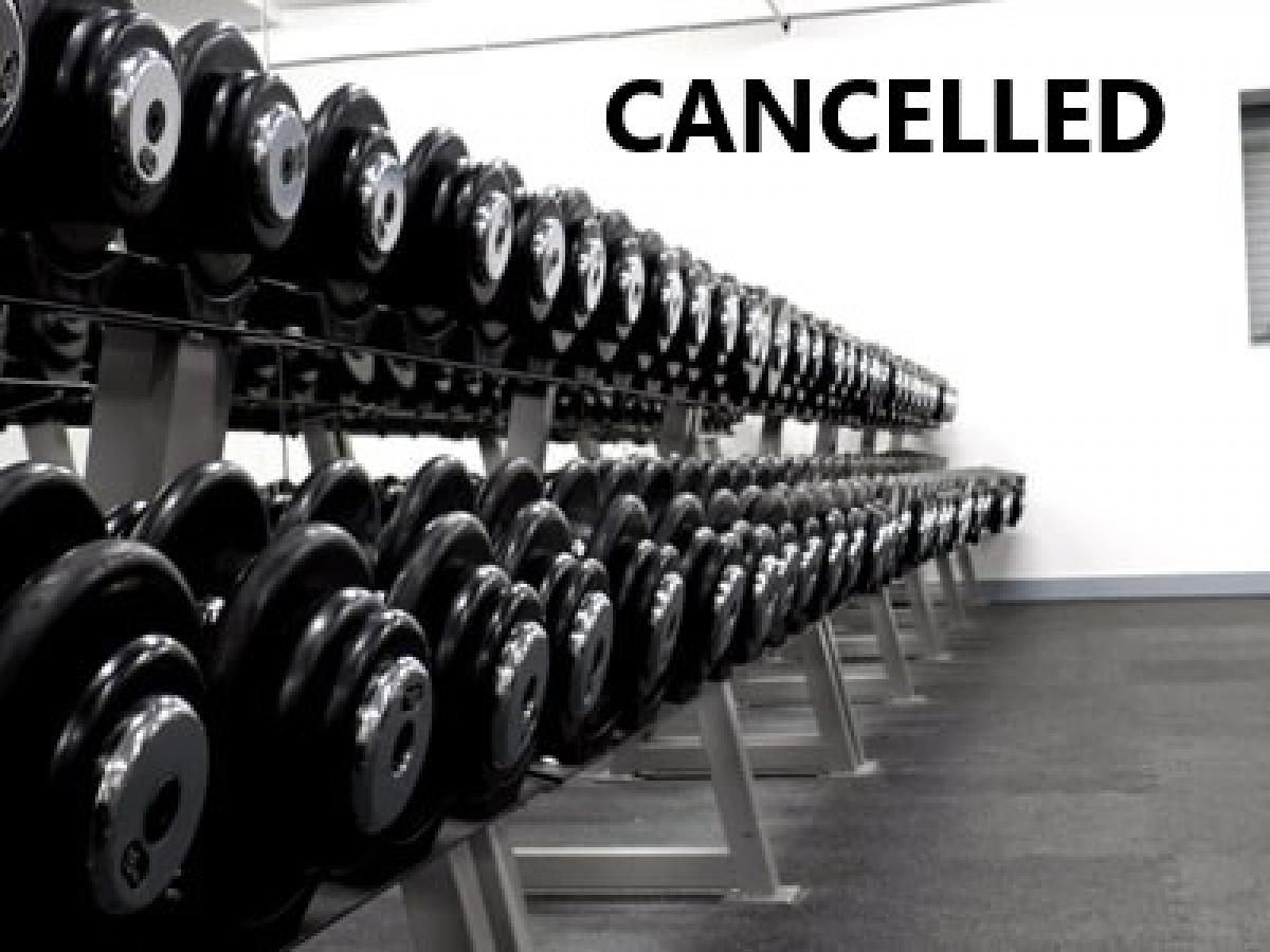 Weight Training CANCELLED tonight (Monday 11th February)