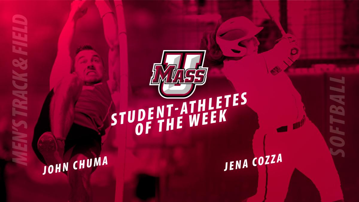 Cozza Named UMass Student-Athletes Of the Week