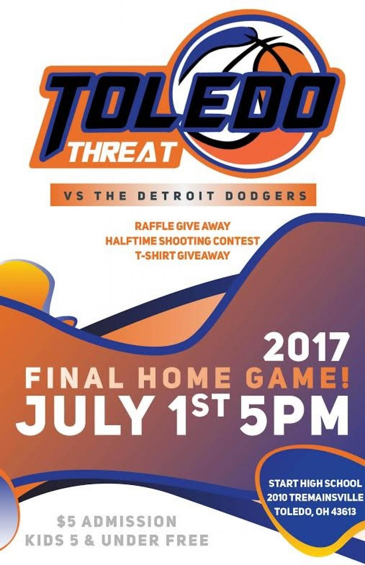 Toledo Threat Look To Win At Home Against Detroit