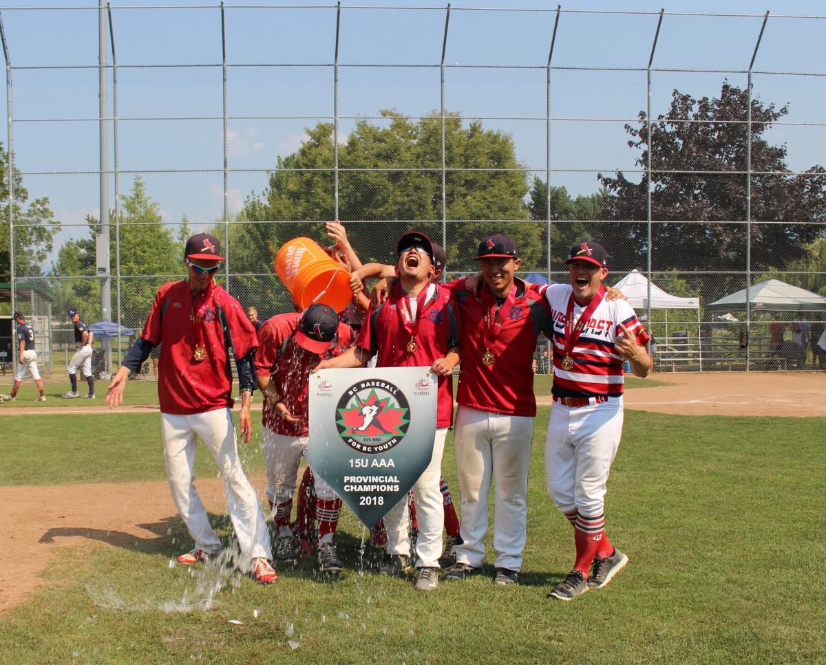 JERSEY BOUND! West Coast Defeats North Langley & Delta Orange in 2 Tightly Contested Ballgames on Championship Sunday; Cardinals are your 2018 BC (Minor) Baseball 15U AAA Provincial Champions!